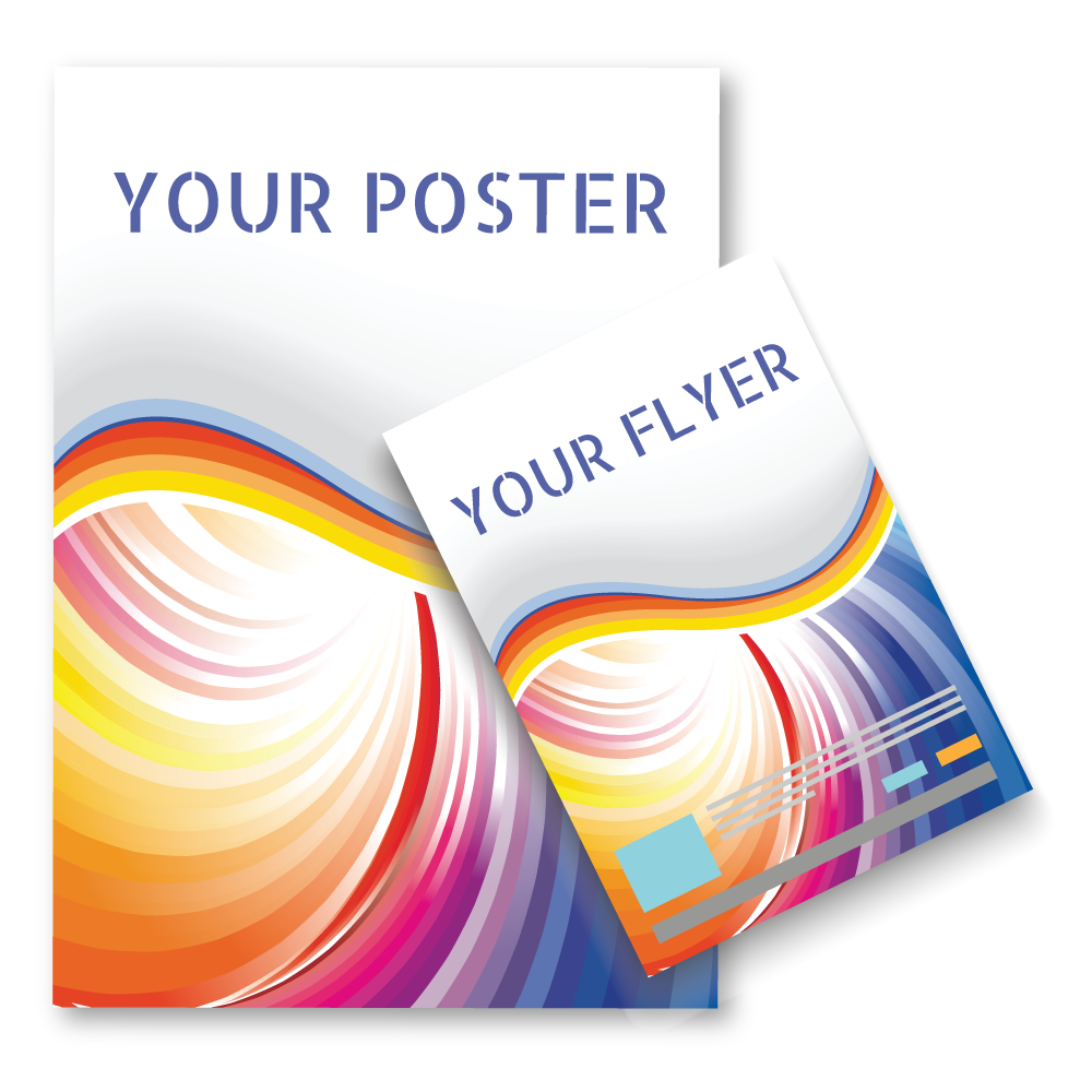 promotional material set package poster flzer